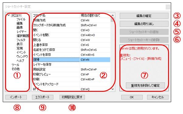 ペイントソフト openCanvas ヘルプ「編集」